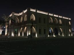 Exterior lighting the Americani Cultural Centre